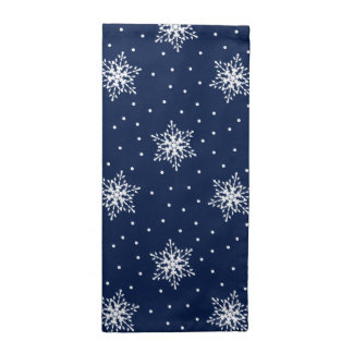White Snowflakes with Polka Dots Printed Napkin