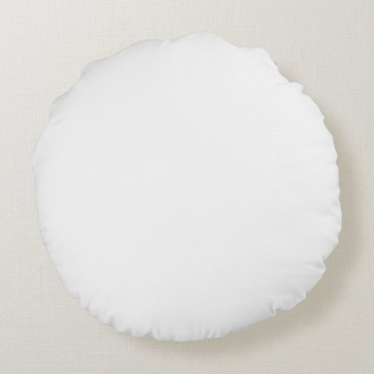 white solid colour round pillow