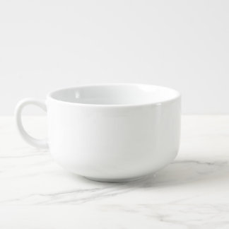 White soup mug for vegetarian and vegan