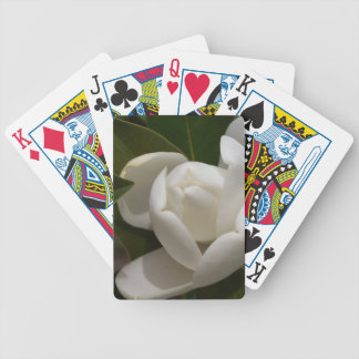 white southern magnolia flower bud bicycle playing cards