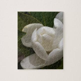 white southern magnolia flower bud jigsaw puzzle