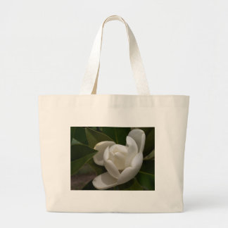 white southern magnolia flower bud large tote bag