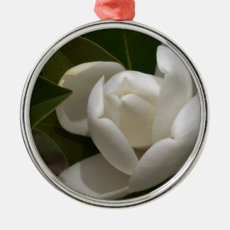white southern magnolia flower bud metal ornament