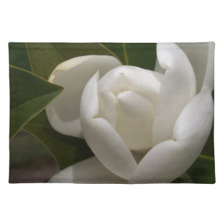 white southern magnolia flower bud placemat