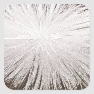 White Spark Square Sticker