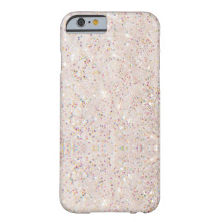 White Sparkle Glitter Texture Pattern Barely There iPhone 6 Case