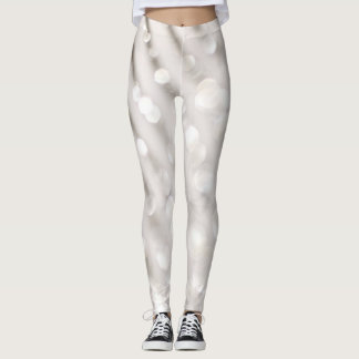White sparkle leggings
