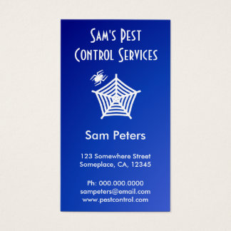 White Spider and Web Pest Control Custom Vertical Business Card