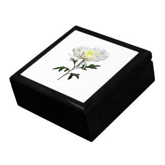 White Spider Mum Keepsake Box