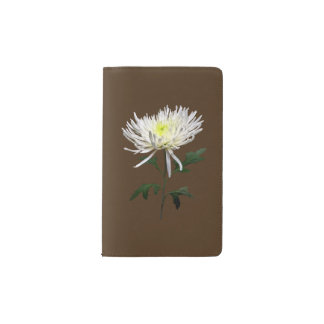 White Spider Mum Pocket Moleskine Notebook