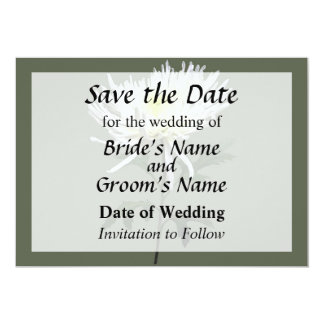 White Spider Mum Save the Date Card
