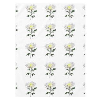 White Spider Mum Tablecloth