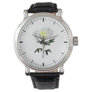 White Spider Mum Watch