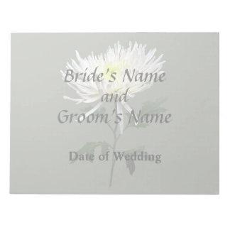 White Spider Mum Wedding Products Notepad