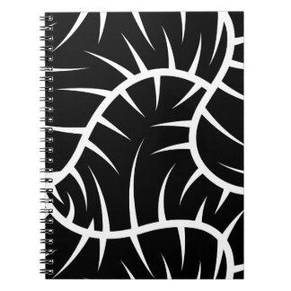White spikes spiral notebook