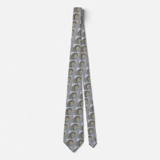 White Spiral Staircase Tie