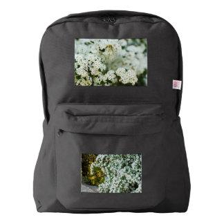 white spirea flowers   American Apparel™ Backpack