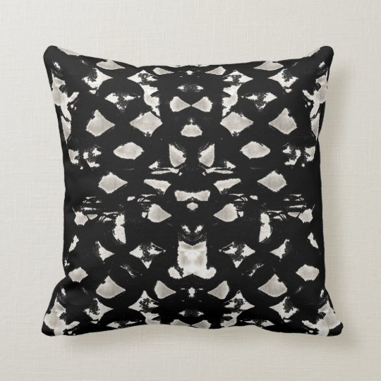 White Spots Throw Pillow