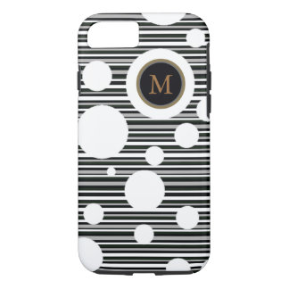white-spotted and striped personalized design iPhone 7 case