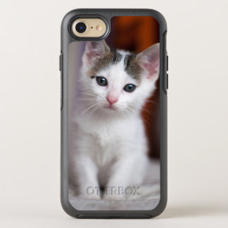 White Spotted Kitty OtterBox Symmetry iPhone 7 Case