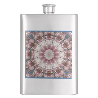 White spring blossoms 2.0.3, mandala style hip flask