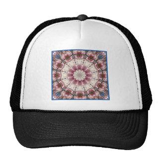 White spring blossoms 2.0.3, mandala style trucker hat