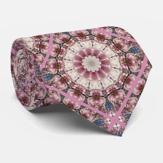 White spring blossoms 2.0.45, mandala style tie