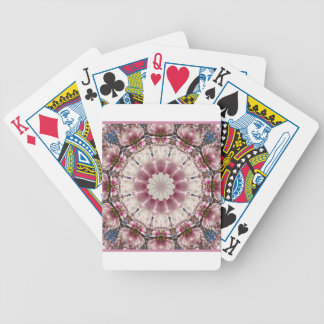 White spring blossoms 2.0, mandala style bicycle playing cards