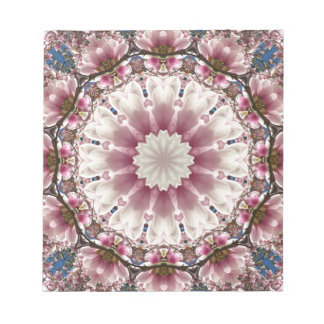 White spring blossoms 2.0, mandala style notepads