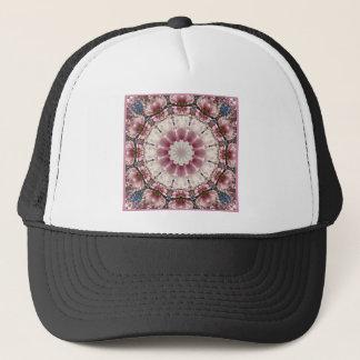 White spring blossoms 2.0, mandala style trucker hat