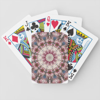 White spring blossoms 2.0, Nature Mandala Bicycle Playing Cards