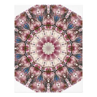 White spring blossoms 2.0, Nature Mandala Letterhead