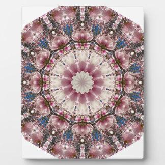 White spring blossoms 2.0, Nature Mandala Plaque