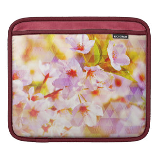 White Spring Blossoms Sleeves For iPads