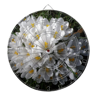 WHITE SPRING CROCUSES Dartboard