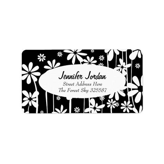 White Spring Flowers - black label