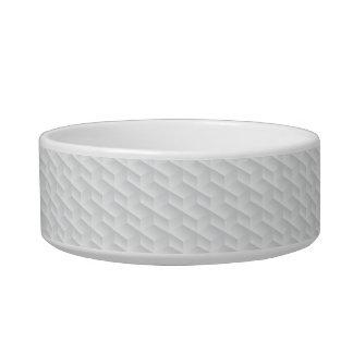 White square embossed bowl