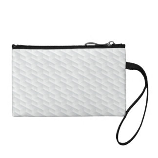White square embossed coin purse