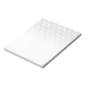 White square embossed notepad