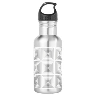 White Square Geometric 532 Ml Water Bottle