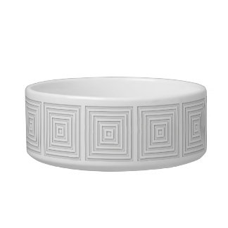 White Square Geometric Bowl