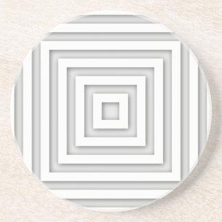 White Square Geometric Coaster