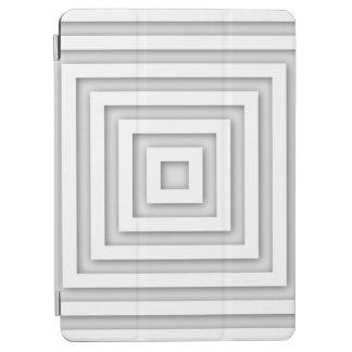 White Square Geometric iPad Air Cover