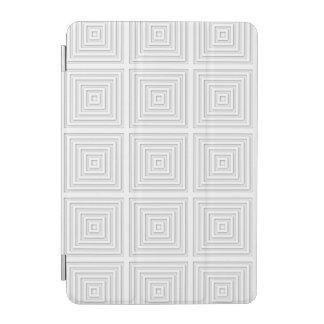 White Square Geometric iPad Mini Cover