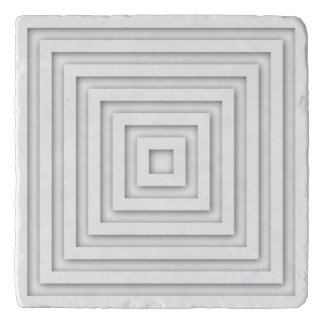 White Square Geometric Trivet