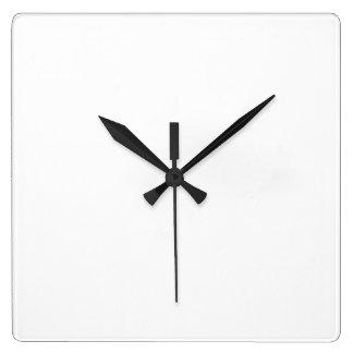 White Square Wall Clock
