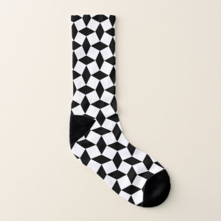White Squares and Black Diamond Socks 1