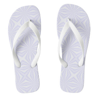White Squiggly Squares Flip Flops