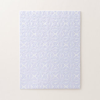 White Squiggly Squares Jigsaw Puzzle