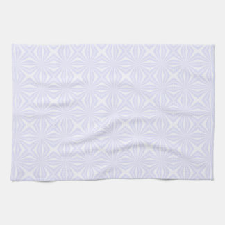 White Squiggly Squares Kitchen Towel